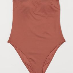 Lined bandeau-style swimsuit with removable inserts for shaping and good support. High-cut sides. | H&M (US)