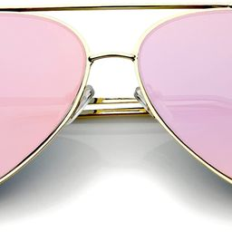 Mirrored Oversized Aviator Sunglasses for Women with Flat Mirror Lens 58mm | Amazon (US)