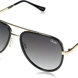 Quay Women's All In Mini Sunglasses, Black/Smoke Fade Lens, One Size | Amazon (US)