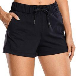 CRZ YOGA Women's Stretch Lounge Travel Shorts Elastic Waist Comfy Workout Shorts with Pockets -2....   Amazon (US)