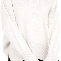 Imily Bela Womens Oversized Sweaters Fall Slouchy Long Sleeve Mock Neck Side Split Pullover Jumpe...   Amazon (US)