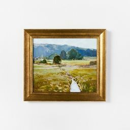 """16"""" x 14"""" Summer Pasture Framed Wall Art Brass - Threshold™ designed with Studio McGee   Target"""