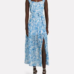 Jude Floral Print Midi Dress   INTERMIX