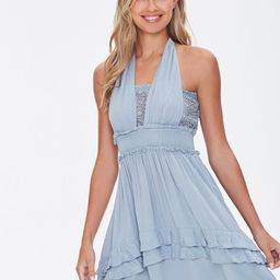 Halter Ruffle-Trim Mini Dress   Forever 21 (US)