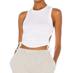 Cut Out Jersey Tank in White | Revolve Clothing (Global)