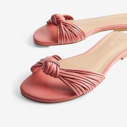 Knotted Slide Sandals   Express
