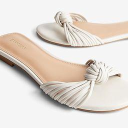 Knotted Slide Sandals | Express