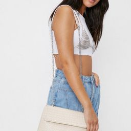 Woven Flap Top Crossbody Bag   NastyGal