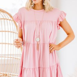 Living For Love Rose Pink Tiered Dress   The Mint Julep Boutique