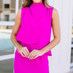 Offer The World Magenta Pink Draped Dress   The Mint Julep Boutique