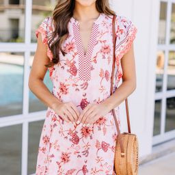 Watch For You Blush Pink Floral Dress   The Mint Julep Boutique