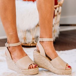 Keep You Updated Nude Wedges   The Mint Julep Boutique