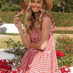 Norville Dress - Red | Petal & Pup (US)