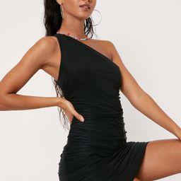Double Slinky One Shoulder Bodycon Mini Dress   NastyGal