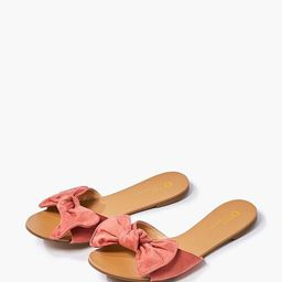 Faux Suede Bow Sandals | Forever 21 (US)