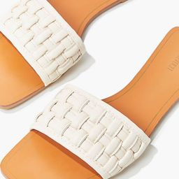Crosshatch Square-Toe Flat Sandals | Forever 21 (US)