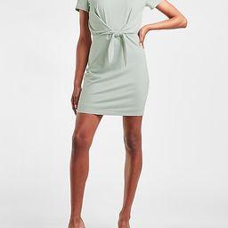 Tie Front T-Shirt Dress | Express