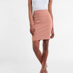 High Waisted Supersoft Twill Pencil Skirt   Express