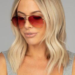 Maverick Aviator Sunglasses - Pink   BuddyLove