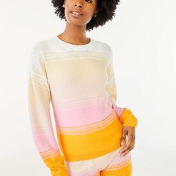 Scoop Women's Ombre Crewneck Sweater   Walmart (US)
