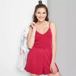 Women's Smocked Top Knit Romper - Wild Fable™ | Target