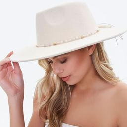 Felt Bow-Trim Panama Hat   Forever 21 (US)