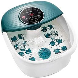Foot Spa/Bath Massager with Heat, Bubbles, and Vibration, Digital Temperature Control, 16 Masssag... | Amazon (US)