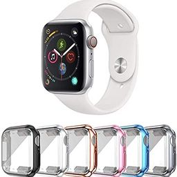 SLYEN 6 Pack Apple Watch Case with Ultra-Thin Screen Protector Compatible with iWatch 38mm 40mm 4... | Amazon (US)
