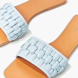 Crosshatch Square-Toe Flat Sandals   Forever 21 (US)
