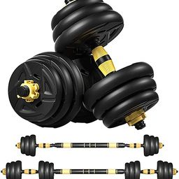 Adjustable Dumbbells Set, Barbell Weight Set Pair 2 in 1 with Connector, Adjustable Weights Dumbb...   Amazon (US)