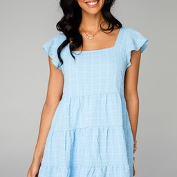 Delilah Baby Doll Dress - Blue   BuddyLove