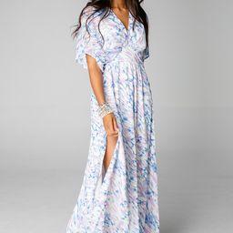 Evelyn Short Sleeve Maxi Dress - Marble   BuddyLove