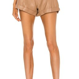 Dixon Leather Paper Bag Short in Almond   Revolve Clothing (Global)