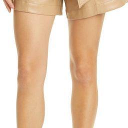 Mari Tie Waist Faux Leather Shorts   Nordstrom