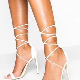 Ankle Tie Stiletto Sandals | Boohoo.com (US & CA)