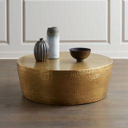 Izmir Hammered Brass Coffee Table | Neiman Marcus