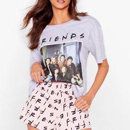Friends Graphic T-Shirt and Shorts Pajama Set   NastyGal