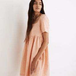 Linen-Blend Allie Mini Dress   Madewell