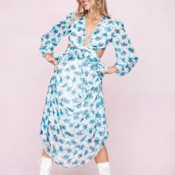 Floral Print Ruffle Cut Out Maxi Dress | NastyGal (UK, IE)