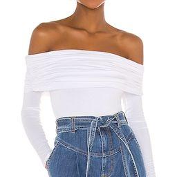 Fatima Bodysuit in White | Revolve Clothing (Global)