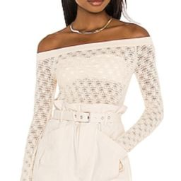Lovers + Friends Astrid Off Shoulder Sweater in Natural from Revolve.com | Revolve Clothing (Global)