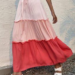 Cut And Sew Frill Trim Knot Skirt | SHEIN