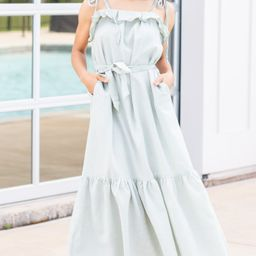 It's All Here Sage Green Maxi Dress   The Mint Julep Boutique