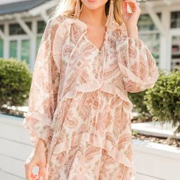 Personal Best Cream White Paisley Dress   The Mint Julep Boutique