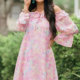 Feel The Love Pink Watercolor Dress   The Mint Julep Boutique