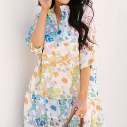 You Have My Attention White Floral Dress   The Mint Julep Boutique