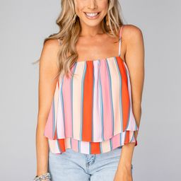 Geena Short Swing Tank Top - Fruit Stripe | BuddyLove