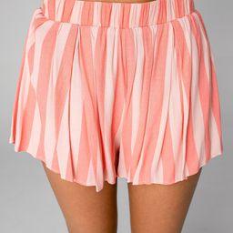 Shirley Elastic High-Waisted Shorts - Bubblegum | BuddyLove