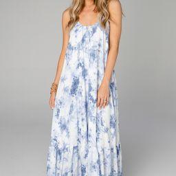 Katey Scooped Neck Maxi Dress - Blue Clouds | BuddyLove