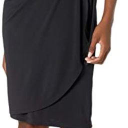 Lark & Ro Women's Cap Sleeve Bateau Neck Wrap Dress | Amazon (US)